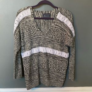 Paper crane sweater with lace details size medium